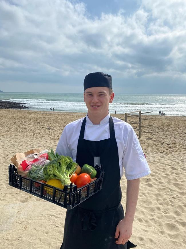 Gylly Beach Cafe is giving free veg boxes to NHS workers