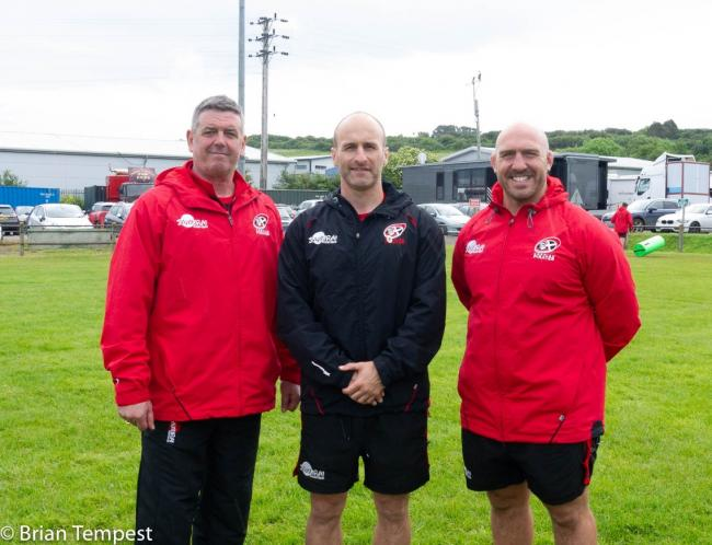 Cornish Pirates director of rugby Chris Stirling (left), is pictured with coaches Gavin Cattle and Alan Paver. Picture: Brian Tempest
