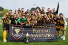 Falmouth Town celebrate their Cornwall Senior Cup victory