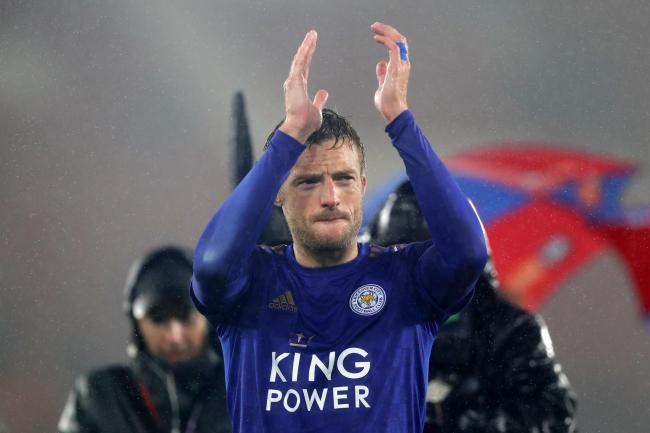 Jamie Vardy was one of those to show his appreciation for the NHS by applauding at 8pm