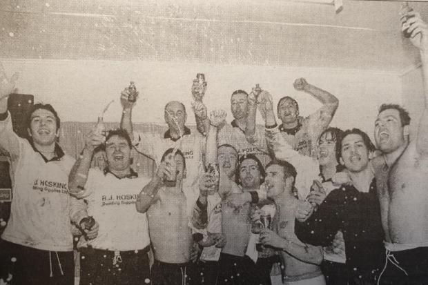 Porthleven's heroes celebrate their epic FA Vase victory over Nottinghamshire side Hucknall Town