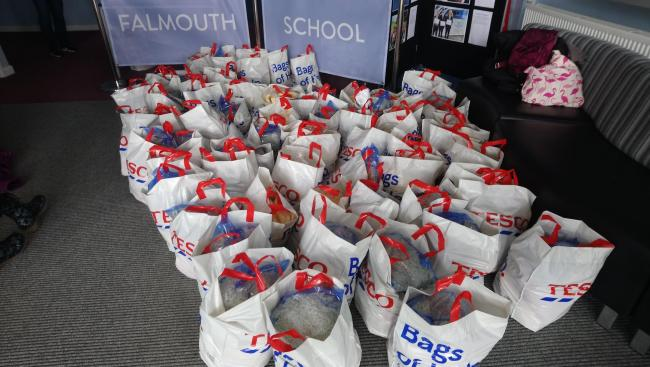 Falmouth schools giving out free food to support community