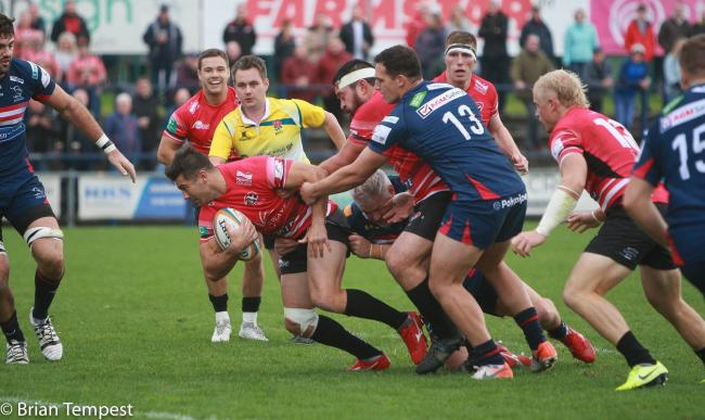 The Cornish Pirates' most recent fixture was a 30-13 win at Ampthill in March. Pic: Brian Tempest