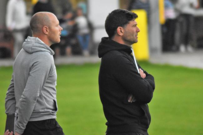 Porthleven co-manager Graham Blake (right) with fellow co-manager Jamie Thomson