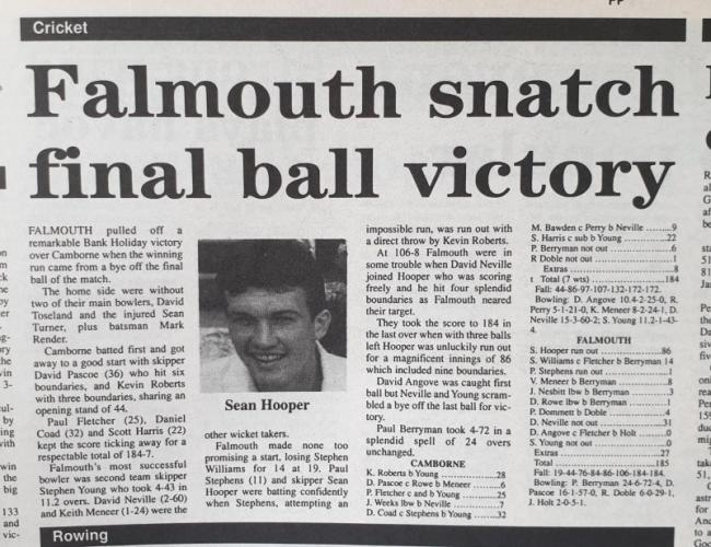 Falmouth snatch final ball victory