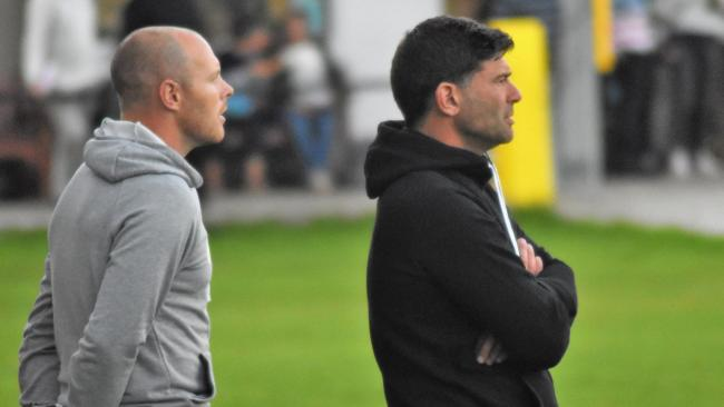 Jamie Thomson (left) and Graham Blake (right) shared managerial duties last season