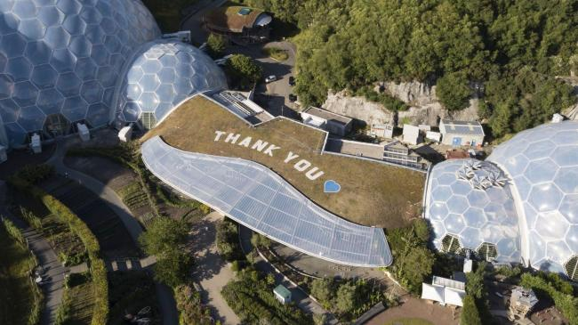 The Eden Project's rooftop thanks to the NHS