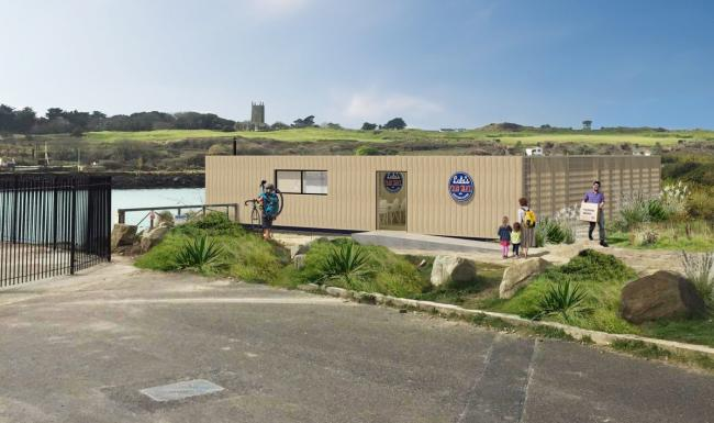 How the new restaurant Lula might look next to the beach at Hayle North Quay