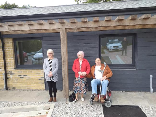 Some of the new residents of Copper Close officially move in: Jenny Glasson, Virginia Smith and Ian Thomas