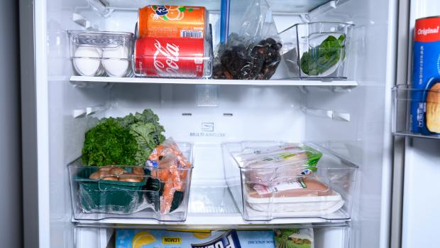 Falmouth Packet: Use an organising set to create more storage zones in your fridge. Credit: Reviewed / Betsey Goldwasser