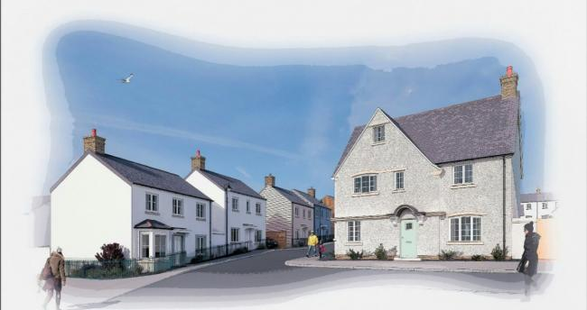 Artists\' impression of homes which will be built as part of phase six of the Duchy of Cornwall\'s Nansledan development in Newquay