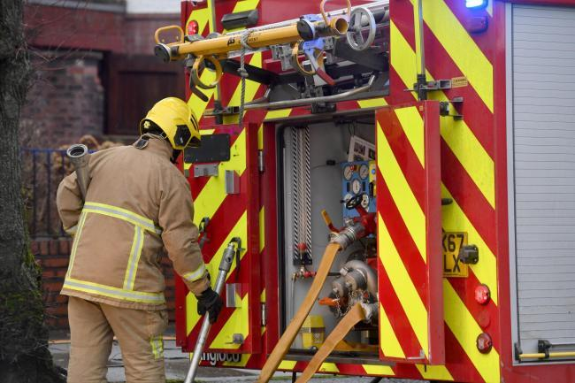 Flat fire in Truro. File image from stock