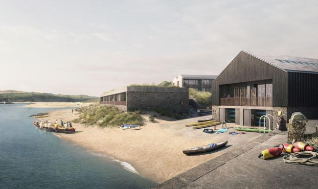 The proposed leisure and watersports hub at Hayle Harbour