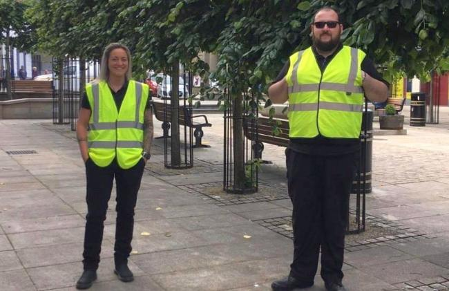 Camborne street marshals are helping keep the town centre Covid-safe