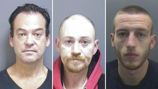 From left to right: Joseph Butler, Kevin Lown and Matthew Anglesey. Images: Devon and Cornwall Police