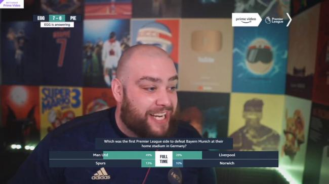 Bateson87 takes on PieFace23 in a head-to-head football quiz to promote Amazon Prime's EPL content, using Codices technology