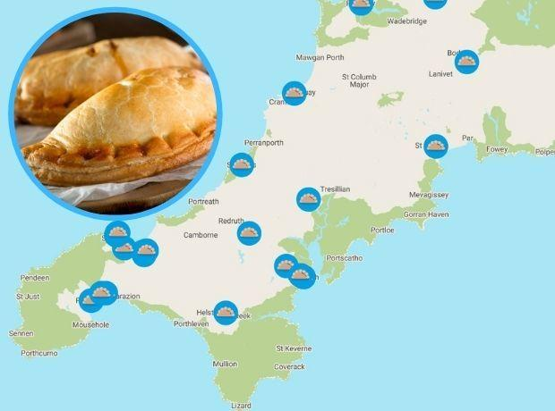 Parkdean Resorts' pasty tour map