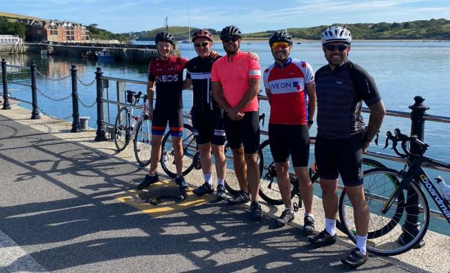 - Chris Matthews, Connor Davidson, Ryan Job, Mykey Davies and Liam Eddy will take on a cycling challenge in aid of the British Heart Foundation