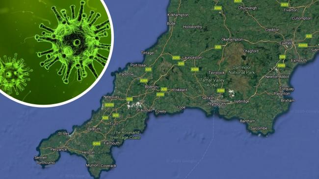 Coronavirus cases in Cornwall have dropped by risen in Devon