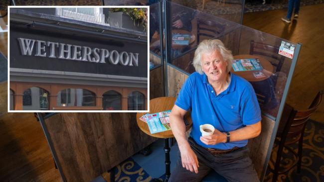 Founder and chairman of JD Wetherspoon, Tim Martin. Main image: Dominic Lipinski/PA