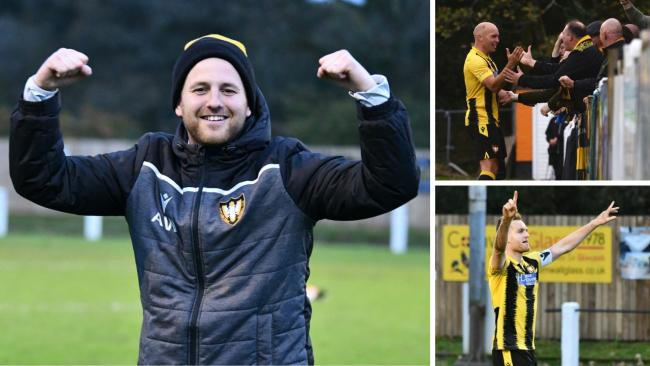 Falmouth Town booked their place in the second round proper for the FA Vase for the third consecutive season. Pictures by Cameron Weldon and James Smith