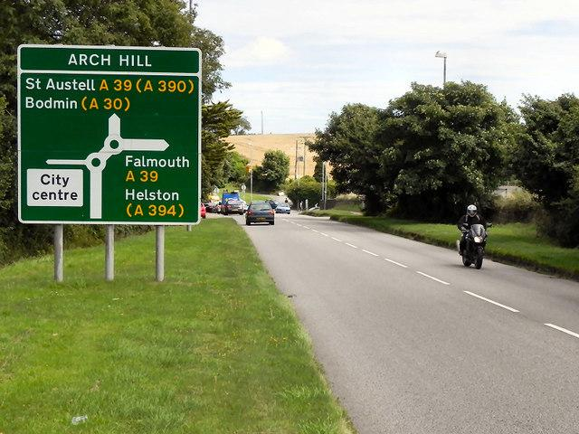 The closure from Arch Hill roundabout to Trelusswell will last all week.