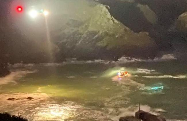 The scene of the rescue attempt at Mullion Cove in November last year. Picture: Bina Fellowes