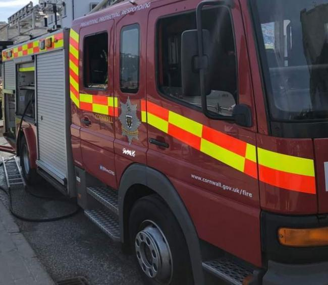 Fire crews were called to St Clare Street, Penzance