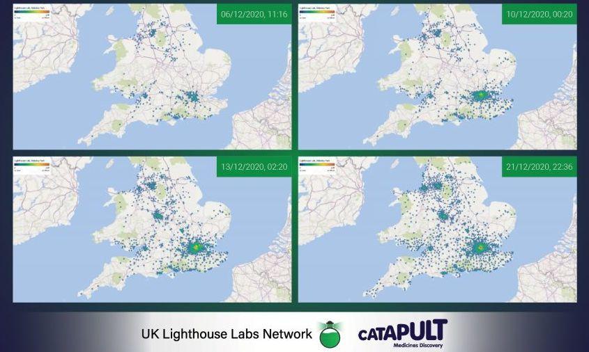 Image result for spread of UK variant in UK