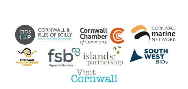 The letter is co-signed by various groups including the Cornwall and Isles of Scilly Local Enterprise Partnership, Cornwall Chamber of Commerce and the Federation of Small Businesses