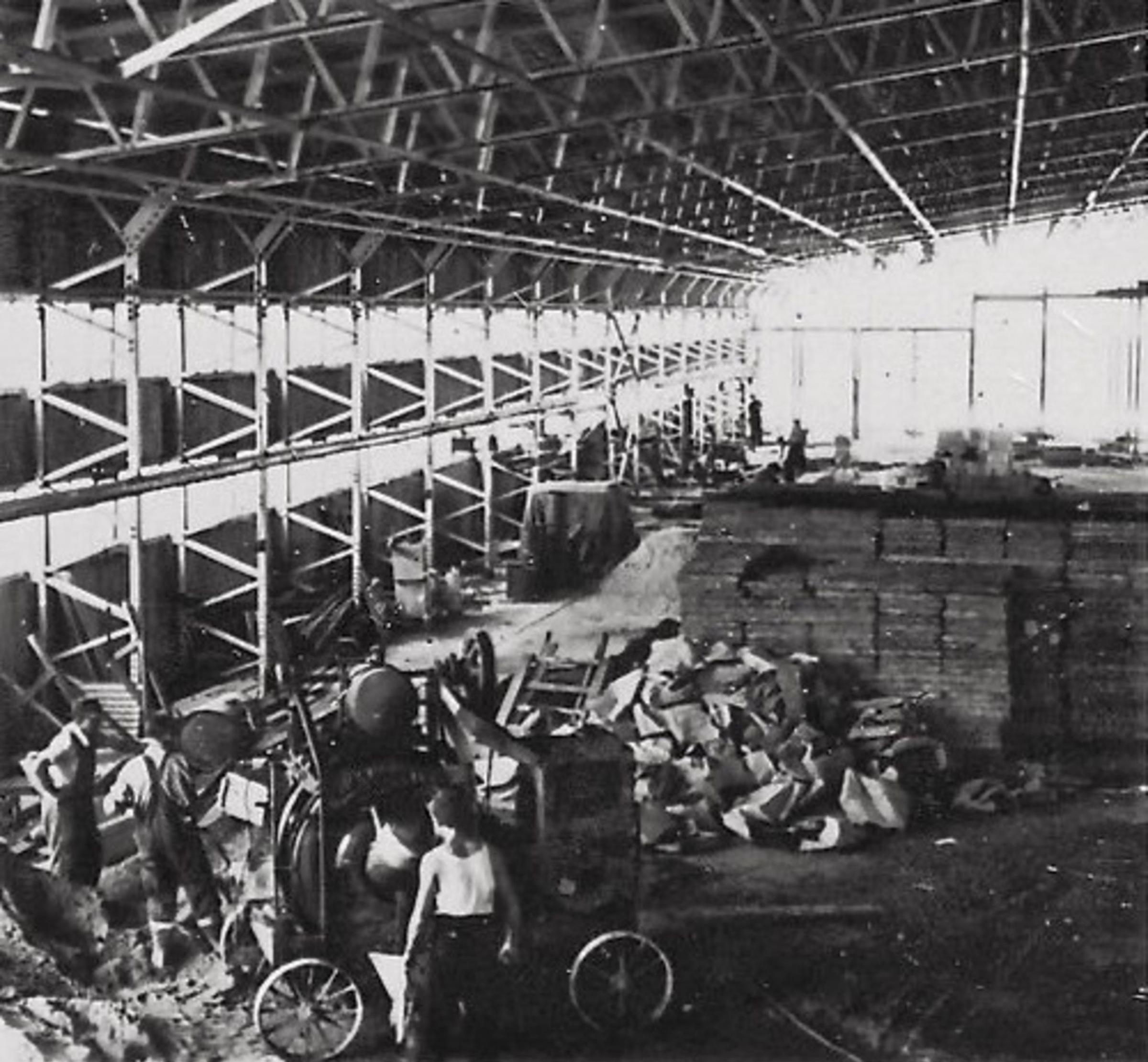 Construction of a hangar at RNAS Culdrose