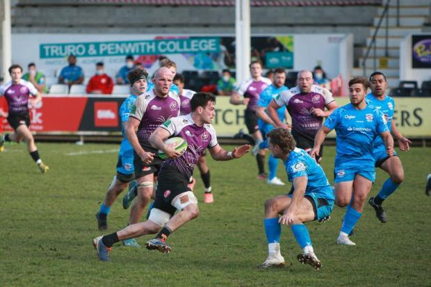 Cornish Pirates beat Jersey Reds 26-13. Picture: Brian Tempest.