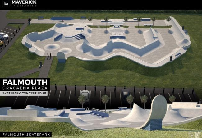 A 3D image of the new skate park design. Picture Maverick Industries/Cornwall Council planning register