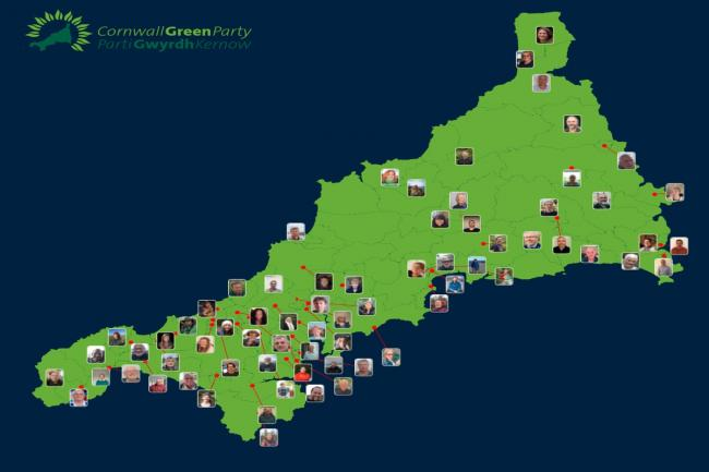 The Green Party in Cornwall has launched its local election campaign today (Tuesday 30) with 71 candidates standing.