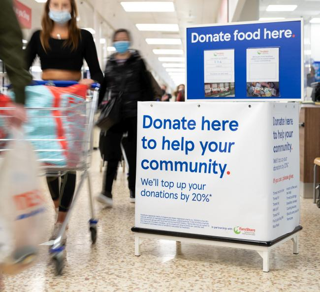 Food donation points have been added to Camborne, Redruth and St Ives Tesco stores