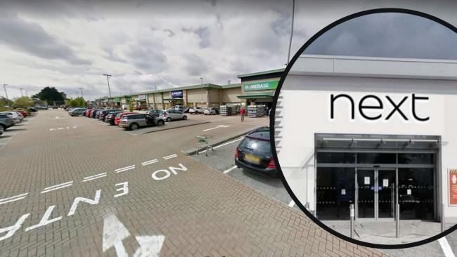 Next will be opening its new Truro store on Treliske Retail Park next week. Inset: the proposed signage