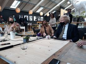 Boris Johnson visited Lemon Street Market
