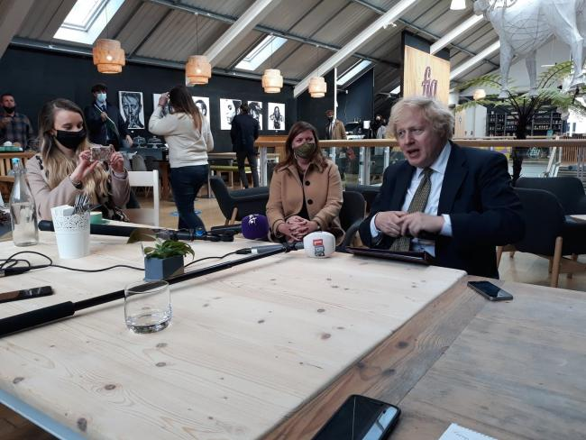 Prime minister says he recognises anxiety of Falmouth shellfish exporters