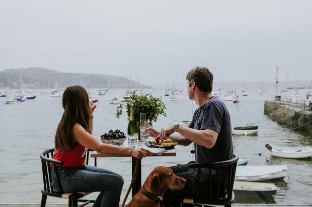 Falmouth Packet: Alfresco tables available for purchase with a set menu in order to accommodate guests as safely and fairly as possible.