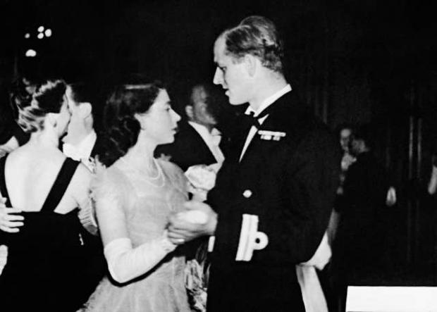 Falmouth Packet: Princess Elizabeth dancing with her fiance, Lieutenant Philip Mountbatten (PA)