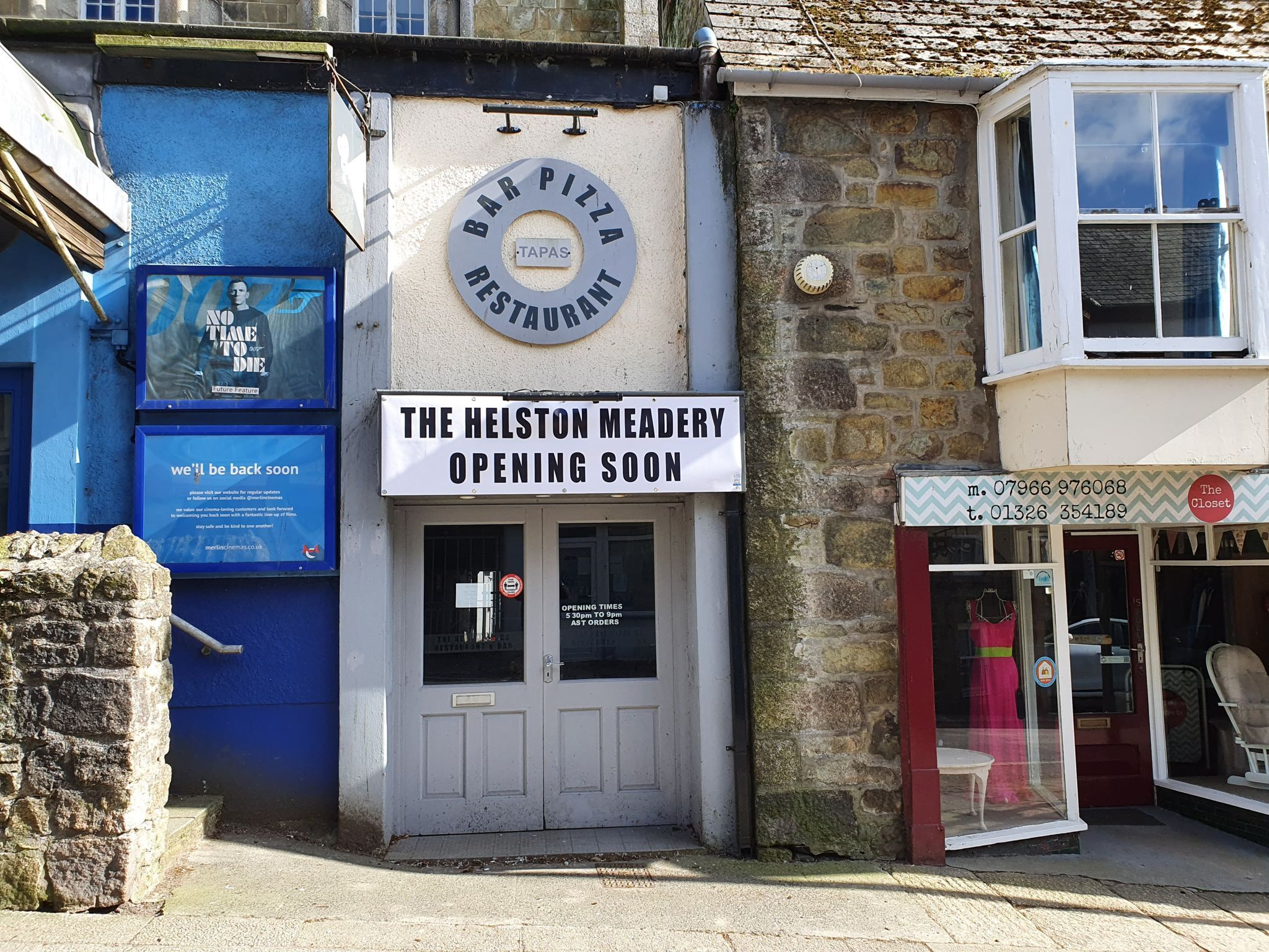 The Helston Meadery appears to be coming next to Flora Cinema