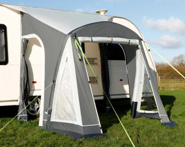 Falmouth Packet: Adventuridge Caravan Air Awning. (Aldi)