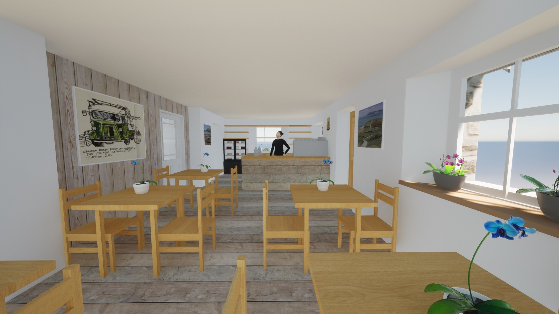 New designs from the Kimberley Park Lodge café and studio.  Concept Hormann Architects