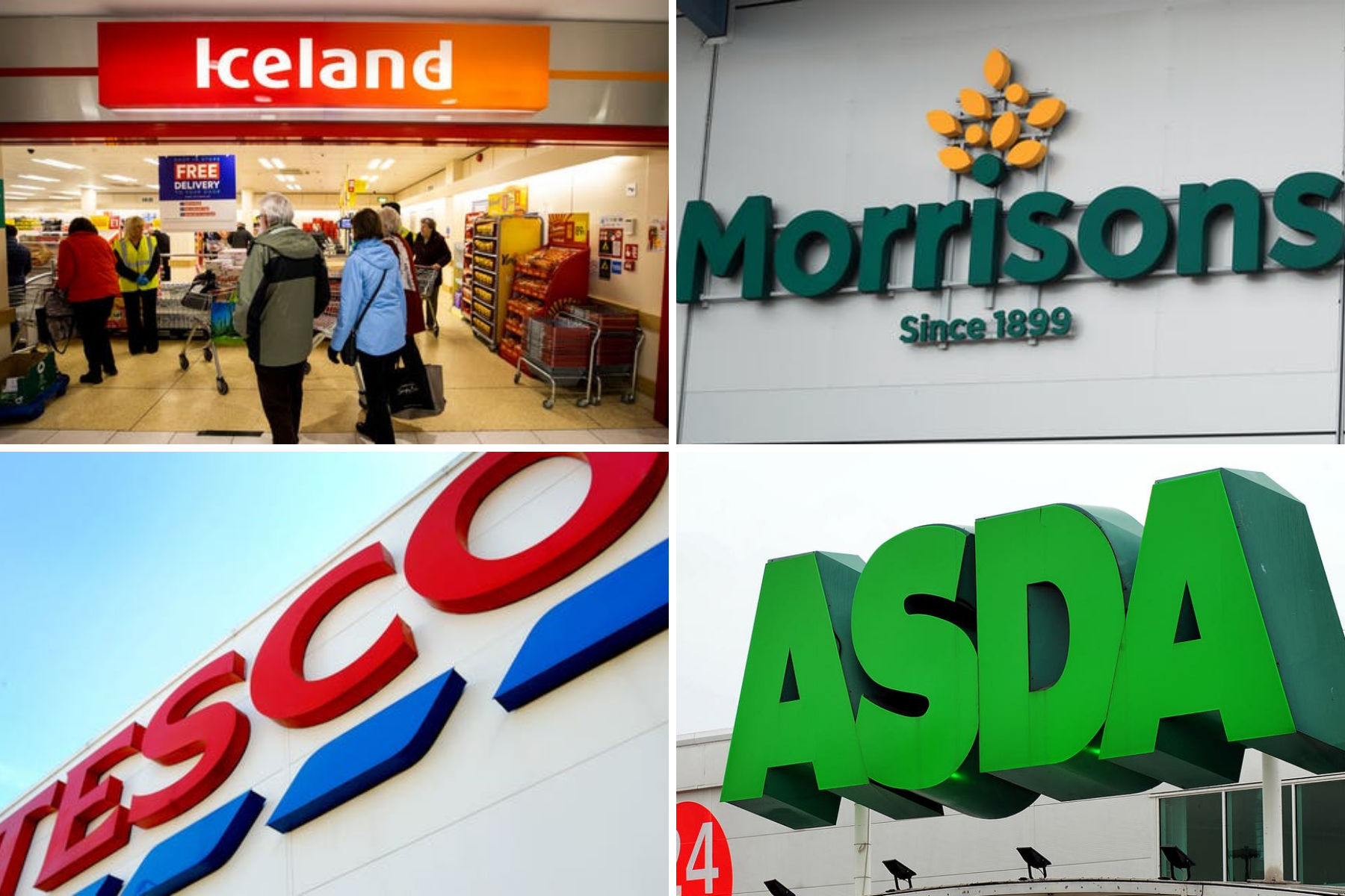 Tesco, Iceland and Morrisons supermarkets issuing product recalls