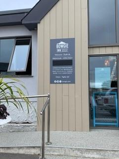 """Falmouth Packet: The most noticeable of them is in the entrance way, where the sizeable Bowgie logo is displayed on a white wall with the words """"Dydh da - Hello"""""""