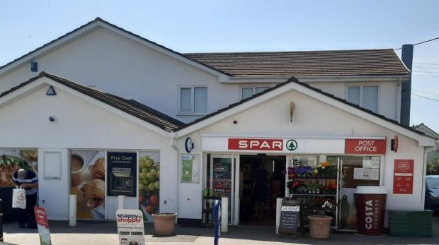 Falmouth Packet: Threemilestone Post Office re-opened last week (July 21) in a new location - SPAR Threemilestone, Hugus Road, Threemilestone, Truro.