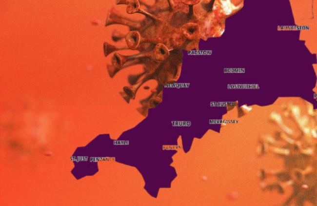 Latest case figures for Newquay, Falmouth and other towns as map turns purple