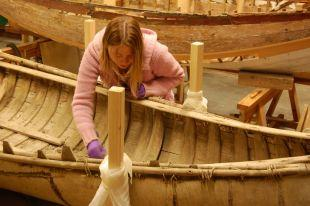 Falmouth museum team starts work on historic bark canoe