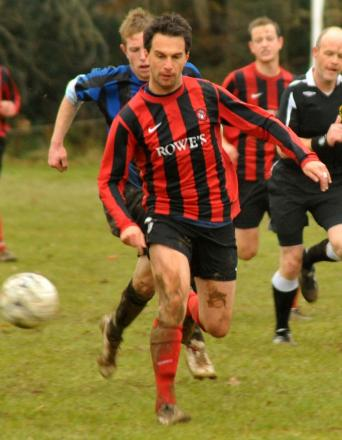 Player-manager Dale Band scored a penalty in last night's win over Illogan in the Senior Cup