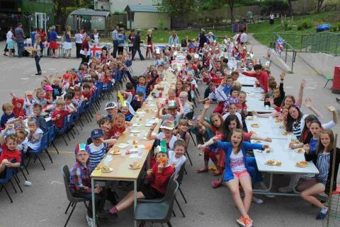 Parc Eglos pupils enjoy a Jubilee street party